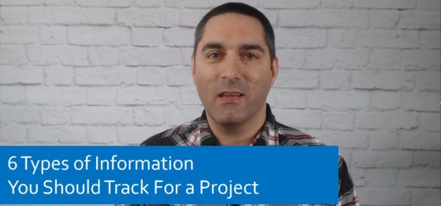 6 Types of Information You Should Track For a Project